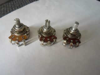 Vintage Matched Set Of 1963 Fender Stratocaster 250k Pots Potentiometers