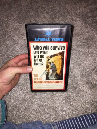 The Texas Chainsaw Massacre Astral Video Release Clamshell Vhs Tape Vintage