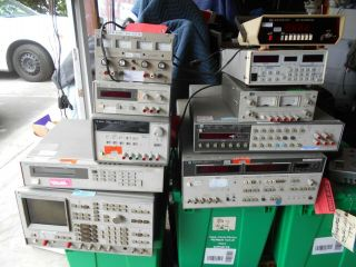 Hp - Agilent - Vintage Test Equipment And Power Supply 10 Modules