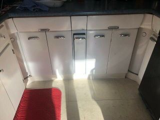 Crosley Steel White Kitchen Cabinets Vintage Metal