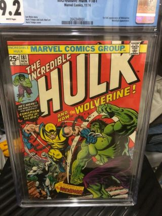 Incredible Hulk 181 Cgc 9.  2 White Pages Perfect Centering