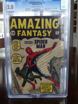 Fantasy 15 Cgc 2.  0 (september 1962,  Marvel) Single Owner Since 1962
