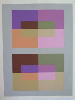 Josef Albers Silkscreen Folder Xiv - 3 Interaction Of Color 1963