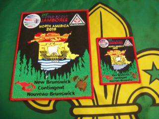 Scouts Canada Brunswick Contingent 2019 World Jamboree Badges