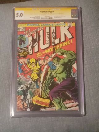 The Incredible Hulk 181 1st Wolverine Cgc 5.  0 Ss Trimpe,  Wein,  Stan Lee,  Romita