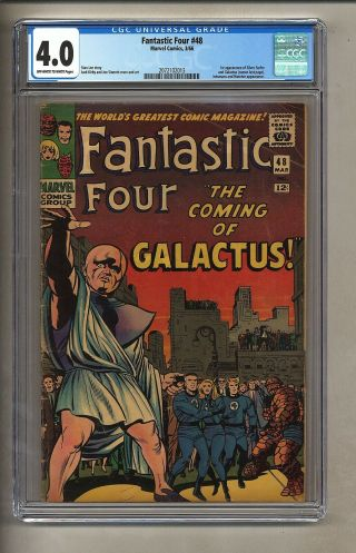 Fantastic Four 48 (cgc 4.  0) Ow/w Pages; 1st App Silver Surfer 1966 Marvel (26484