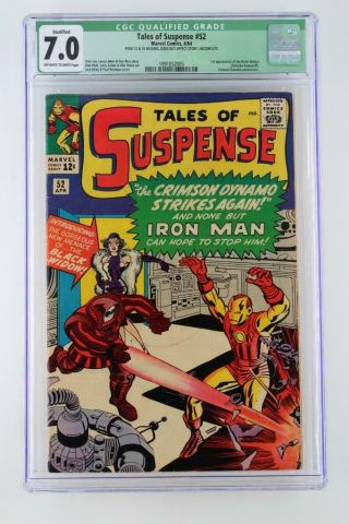 Tales Of Suspense 52 - Cgc 7.  0 Fn/vf - Marvel 1964 - 1st App Black Widow