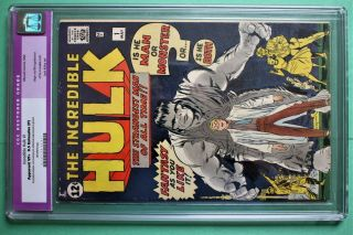 Incredible Hulk 1 Marvel Comics 1962 Cgc 8.  5 Restored,  Very Comic