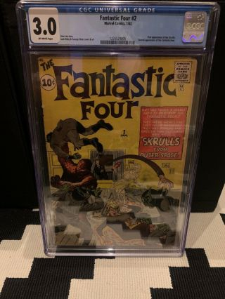 Fantastic Four 2 Cgc 3.  0 Off - White First Skrulls