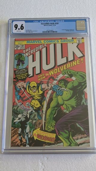 Stunning Incredible Hulk 181 Cgc 9.  6 Awesome Investment Book Starts @.  99¢