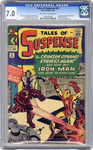 Tales Of Suspense 52 Cgc 7.  0 1964 0141479007 1st App.  Black Widow