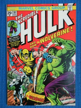 Incredible Hulk 181 - (nm) - 1st Full Appearance Of The Wolverine -