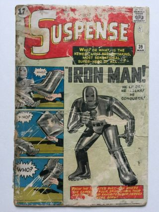Tales Of Suspense 39 (marvel Comics 1963) 1st Appearance Iron Man,  No Avengers