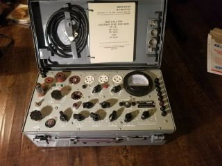 Vintage Military Tv 7d/u Tube Tester For Part,  Calibration