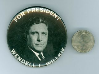 """1940 Vintage Wendell Willkie Presidential Political Campaign Pinback Button 2.  5 """""""