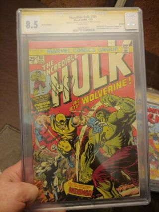 The Incredible Hulk 181 Cgc Ss 8.  5 German Edition Signed By Stan Lee And Herb T