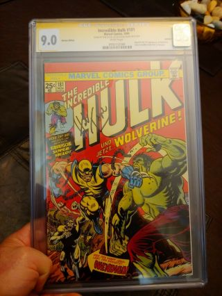 The Incredible Hulk 181 Cgc Ss 9.  0 German Edition Signed By Stan Lee And Herb T