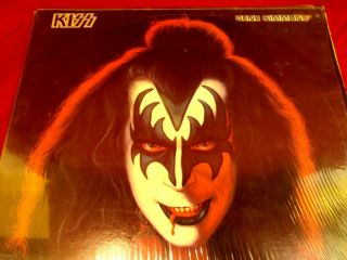 Kiss Gene Simmons Solo Lp Casablanca Nblp 7120 Sleeve,  Fold Out Poster 1978