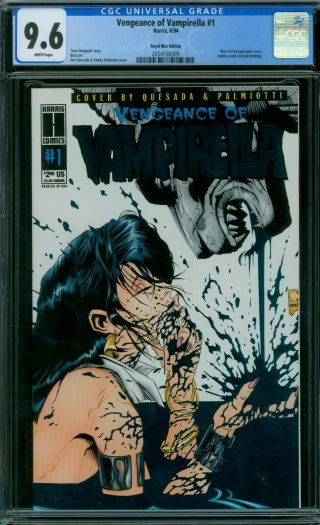 Vengeance Of Vampirella 1 Cgc 9.  6 - White Pages - Royal Blue Edition
