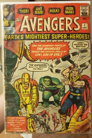 Avengers 1 Looking Book 1963 1st Avengers.