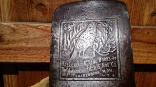 Vintage Tools Embossed True Temper Kelly Black Raven Axe Head True Temper