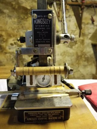 Kingsley Hot Foil Stamping Machine Vintage,  With Cover,  Does,  Foil And Soft Pads