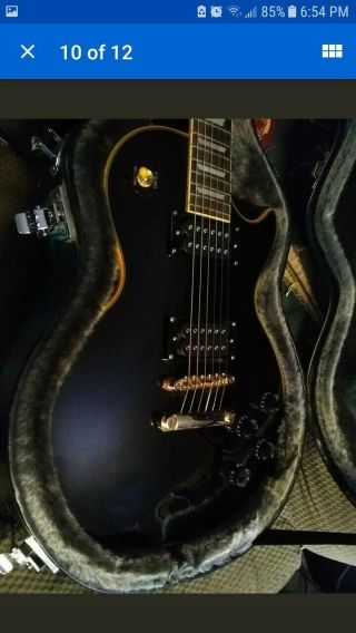Epiphone Les Paul Custom Pro (limited Edition).  Vintage Black With Upgrades