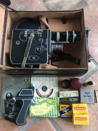 Paillard Bolex H16 Vintage 16mm Film Camera,  Case,  Lenses & Accessories