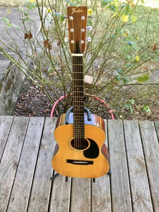 Vintage Mij Fender F - 15 Acoustic Guitar W/ Case 1978 Japan Orchestra