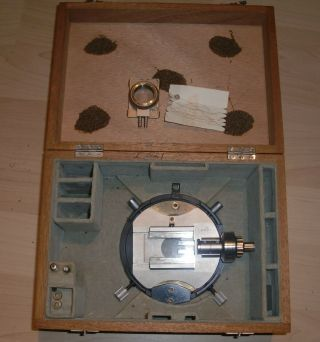 Ernst Leitz Wetzlar Box With Polarisation Parts Very Rear