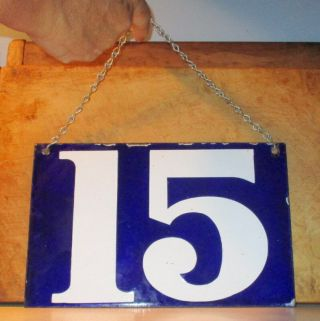 Vintage Factory Porcelain 2 Sided Tag Sign 15 With Chain
