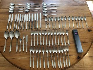 71pc Setting For 13 Wmf Cromargan Balance Stainless Steel Flatware Set - Great
