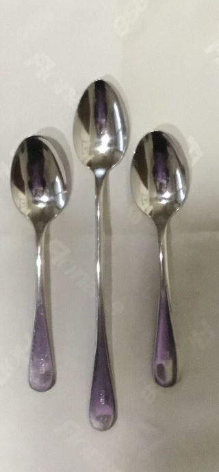 Ford Motor Company Dining Room Stainless Steel Flatware 3 Spoons