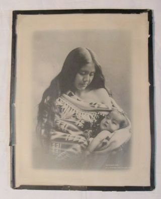 1905 B.  A.  Gifford The Dalles Oregon Indian Girl Photograph Print