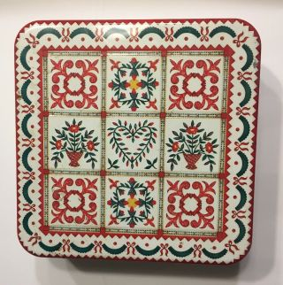 """Milky Way """" Baltimore Album Quilt 1997 """" Christmas Limited Candy Canister Tin"""