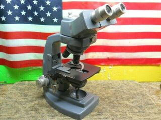 Estate Vintage B&l Bausch & Lomb Stereo Microscope 10x 20x 40x