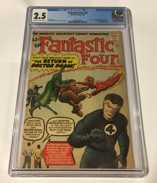 Fantastic Four 10 Cgc 2.  5 Stan Lee Jack Kirby Appearance