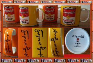 Block Art Andy Warhol Signature Campbell