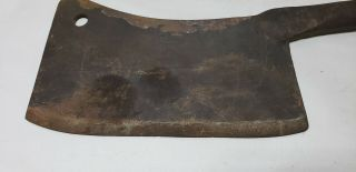 Antique Hand Forged B A Stevens No 9 Meat Cleaver Hog Splitter Toledo Ohio