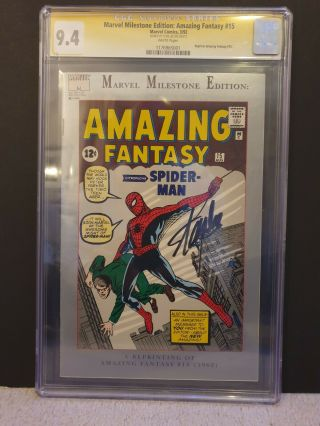 Stan Lee Signed Marvel Milestone Edition: Fantasy 15 Comic Reprint