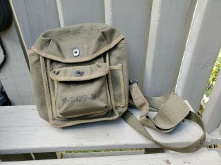 Wwii Canvas M - 209 - B Us Army Signal Corps Code Converter/cypher Carrying Bag