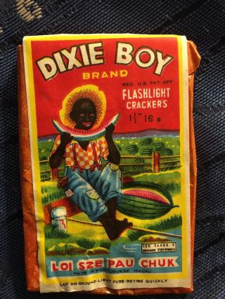 "Icc Class X ""dixie Boy"" Firecracker Pack Label - Red Glassine"