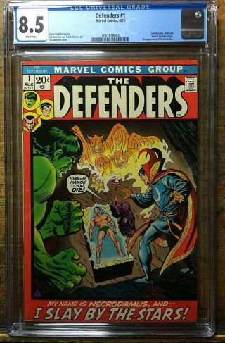Defenders 1 Cgc 8.  5 Marvel Comics 1972 Hulk Sub - Mariner Silver Surfer Key