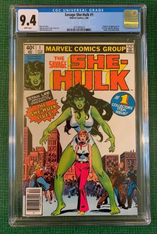 The Savage She - Hulk 1 Marvel Comics 1980 Cgc 9.  4 First Appearance Nm 1st App.
