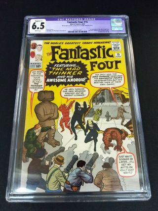 Fantastic Four 15 Cgc 6.  5 1st Mad Thinker C - 1 Restored Slight Colour Touch
