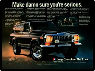 "1980 Jeep Cherokee Metal Sign: "" Make Damn Sure You"