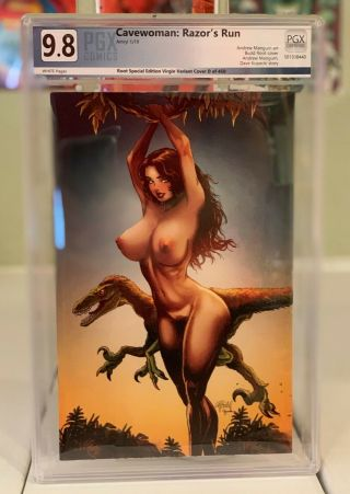 Cavewoman Razors Run 1 Budd Root Cover D Limited To 450 Pgx (like Cgc) 9.  8