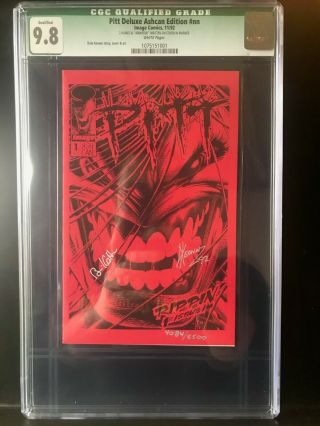 9.  8 Cgc Certified Pitt 1,  Deluxe Ashcan Edition,  Signed By Dale Keown,  Comic