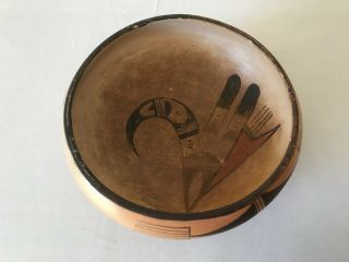 Vintage Old Hopi Pueblo Indian Pottery Bowl