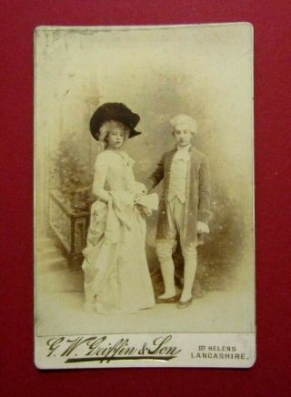 Victorian Cdv / Cabinet Photo - Young Couple - G.  W Griffin & Son,  St Helens